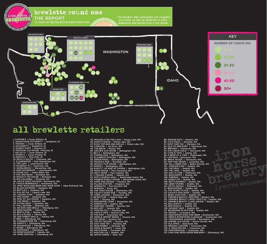 Brewlette Participation Map