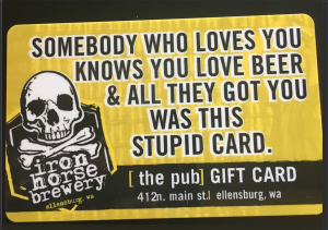 gift cards are great beer gifts for boyfriends