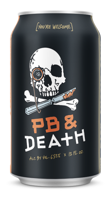 PB & Death 12 oz can